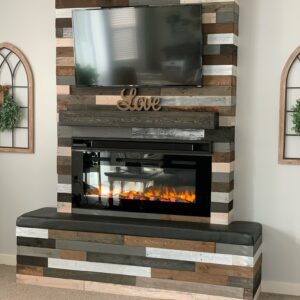 Pallet Wood Fireplace