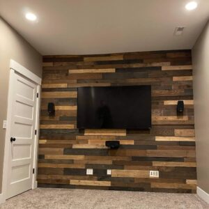 Pallet Wall Theater Room