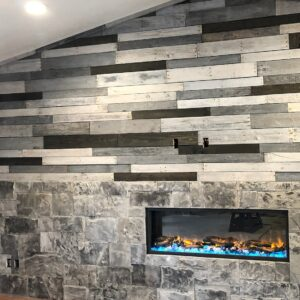 Pallet Wall Fireplace