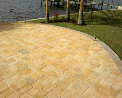 brick paver pool patio 9