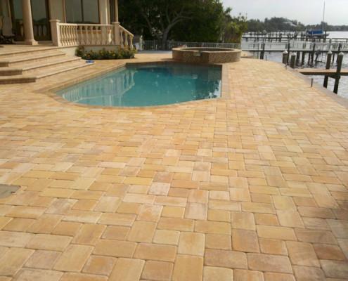 brick paver pool patio 5