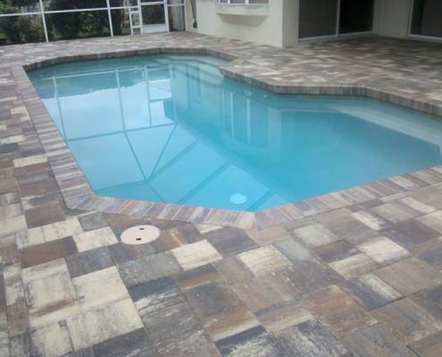 brick paver pool patio 1