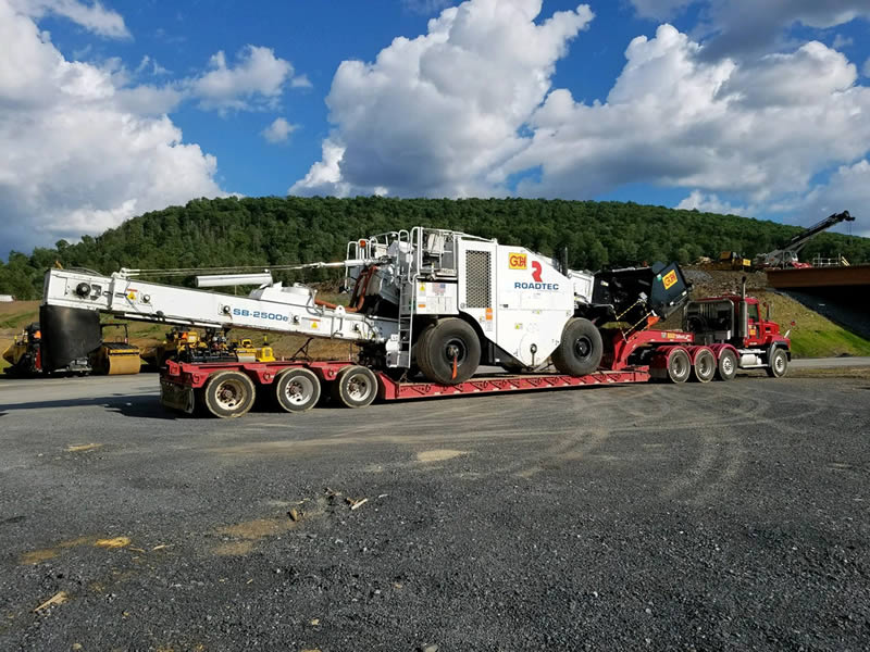Sizing a Trailer for Paving Equipment Loads
