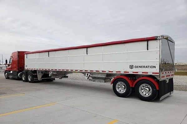 EBY Generation Grain Trailer with Tractor