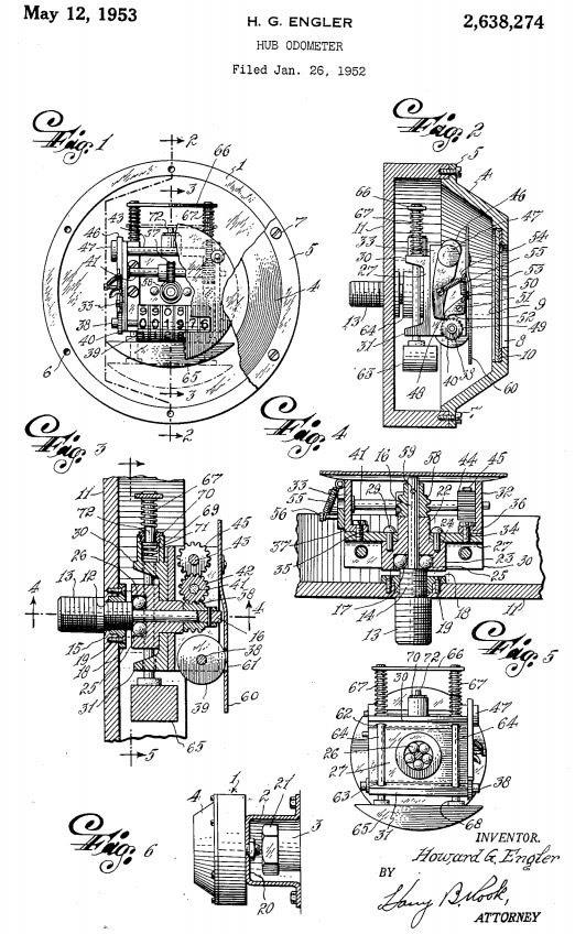 Hubodometer Patent 2638274 - Howard G Engler