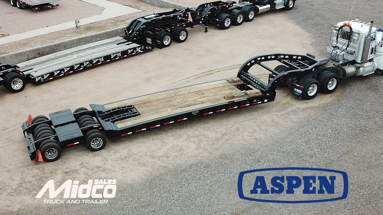 Aspen 16 Wheel Lowboy Trailer at Midco Sales