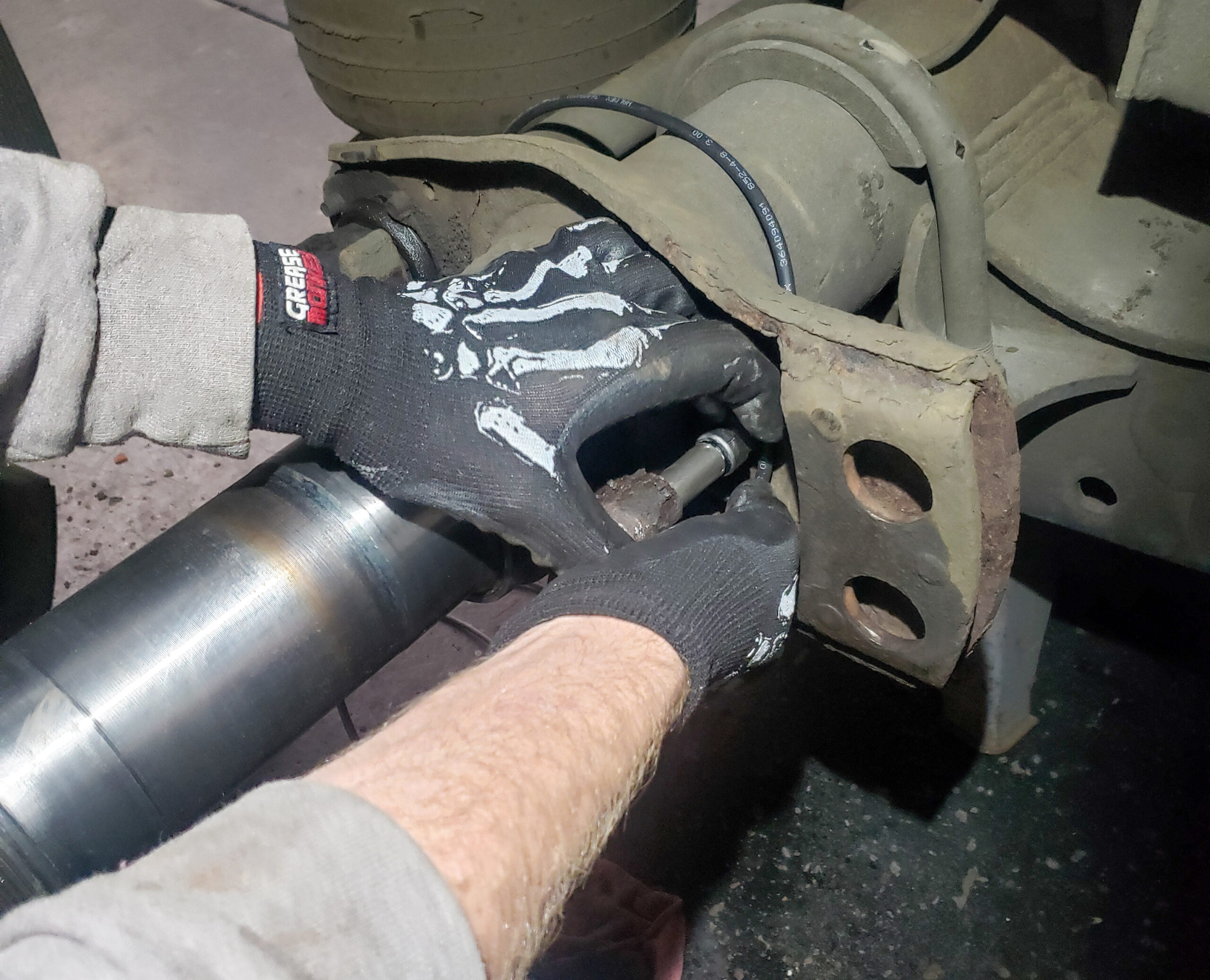 ABS Sensor Installation with Grease Monkey Bone Series Gloves