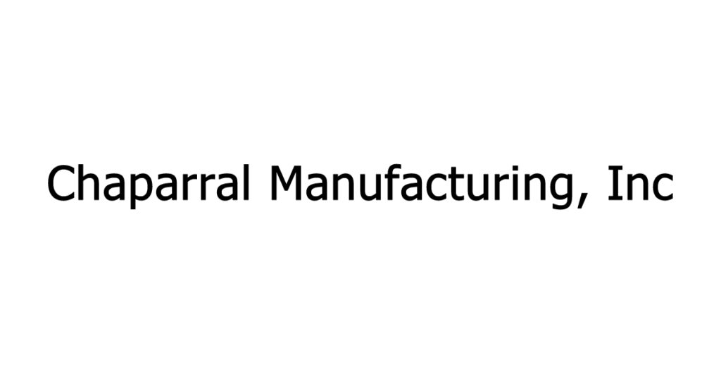 Chaparral Manufacturing