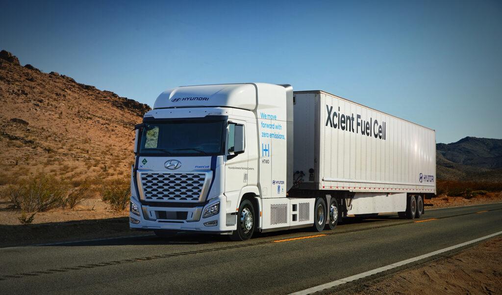 Hyundai Hydrogen Fuel Cell Electric Heavy-duty Trucks