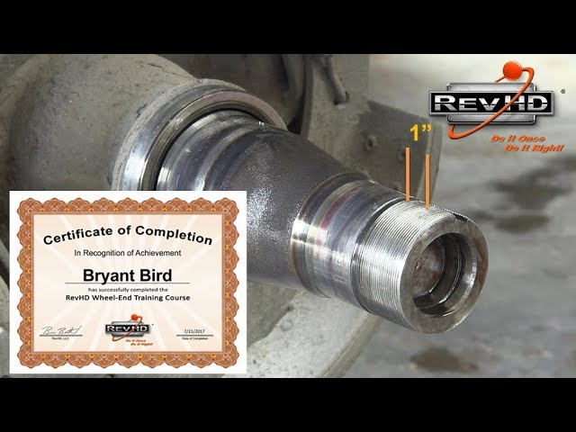 RevHD Wheel End Training Course