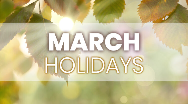 iLoyal Marketing March Holidays for Email Social