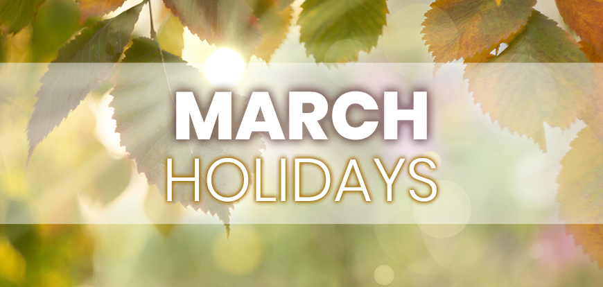 March Holidays to Integrate into Your Marketing