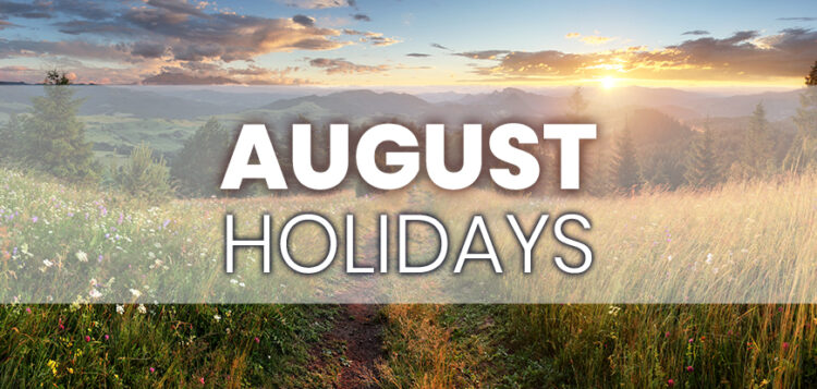 August Holidays to Integrate into Your Marketing