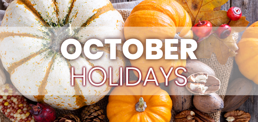 October Holidays to Integrate into Your Marketing