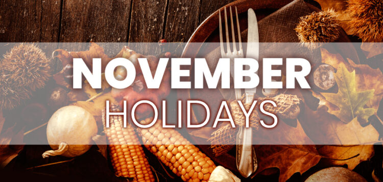 November Holidays to Integrate into Your Marketing