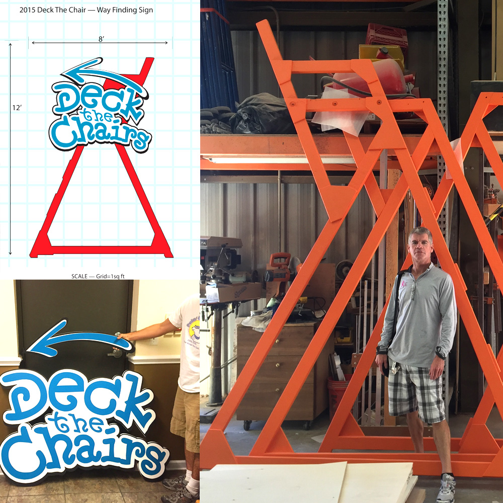 2015 Deck The Chairs^Way Finding Signage Fabrication^Artistic Contractors