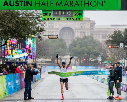 Patrick Smyth ran with the 2018 Austin Half Marathon Elite Athlete Program.