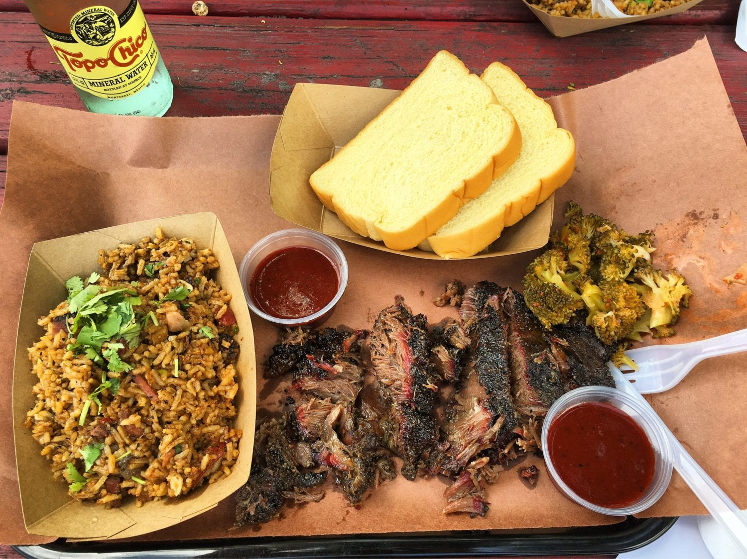 Some of the best Austin BBQ is at LeRoy and Lewis.