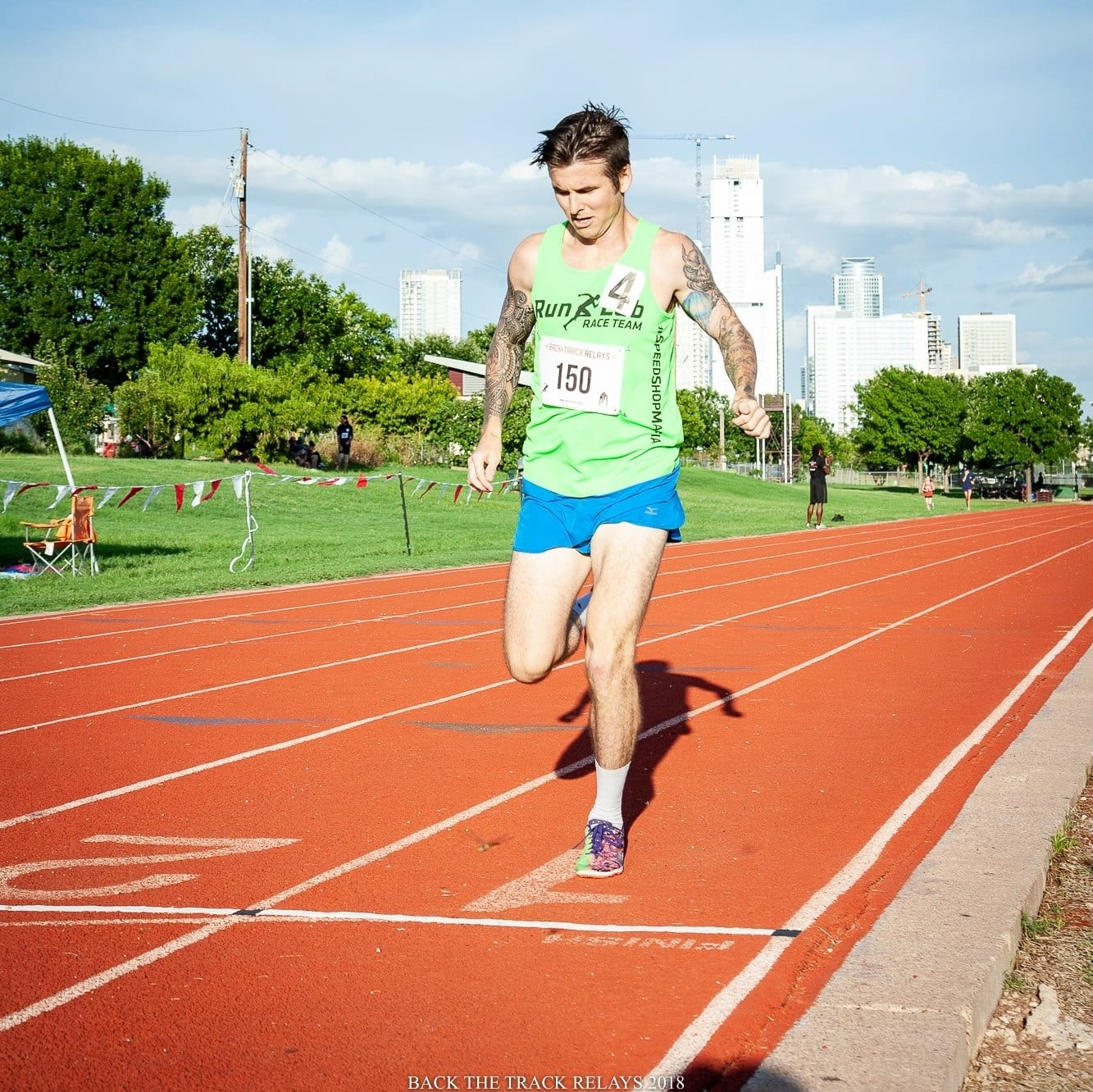 """Rory Tunningley is a member of the """"B"""" standard pacing group at the Austin Marathon."""