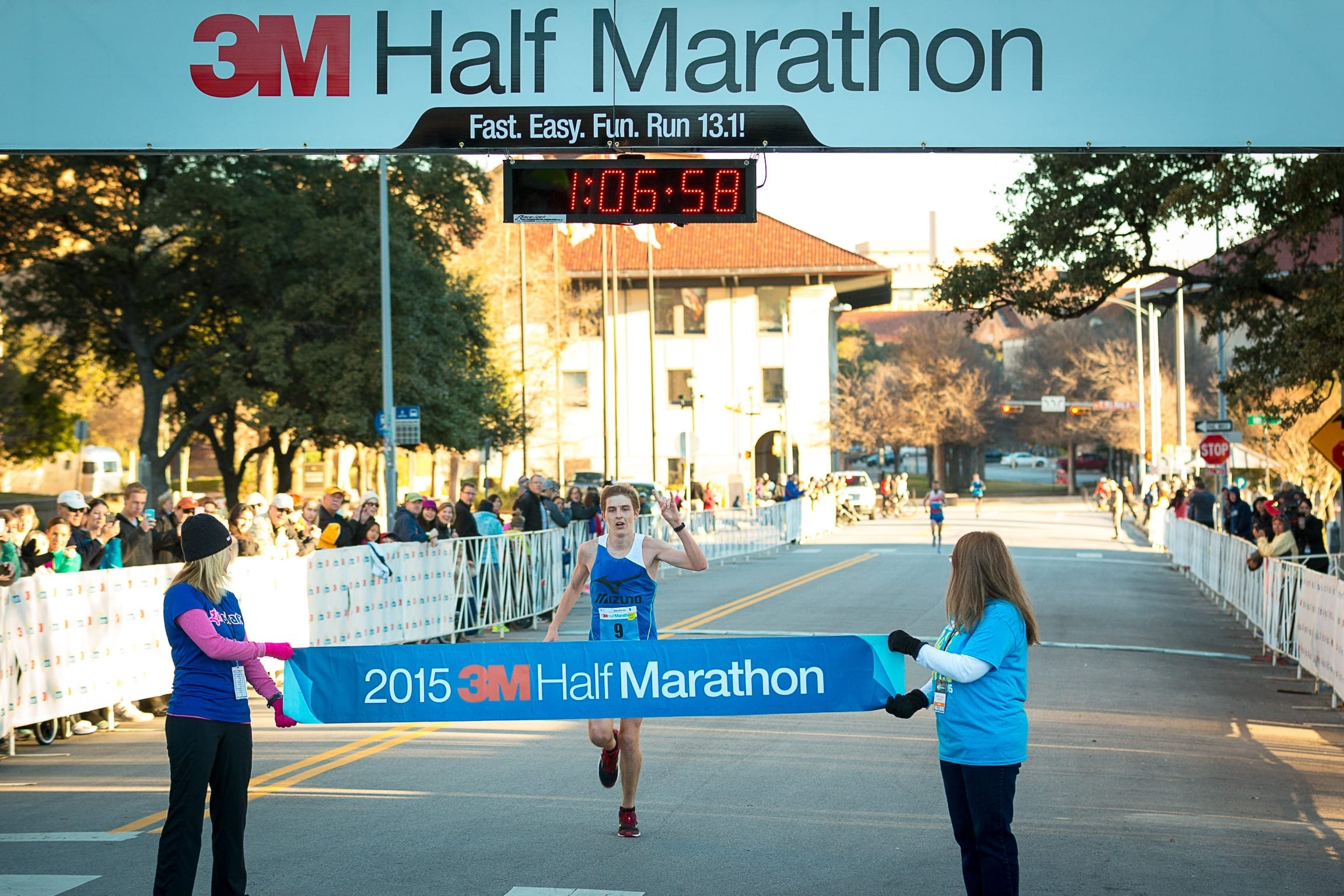 """Will Nation is a member of the """"B"""" standard pacing group at the Austin Marathon."""