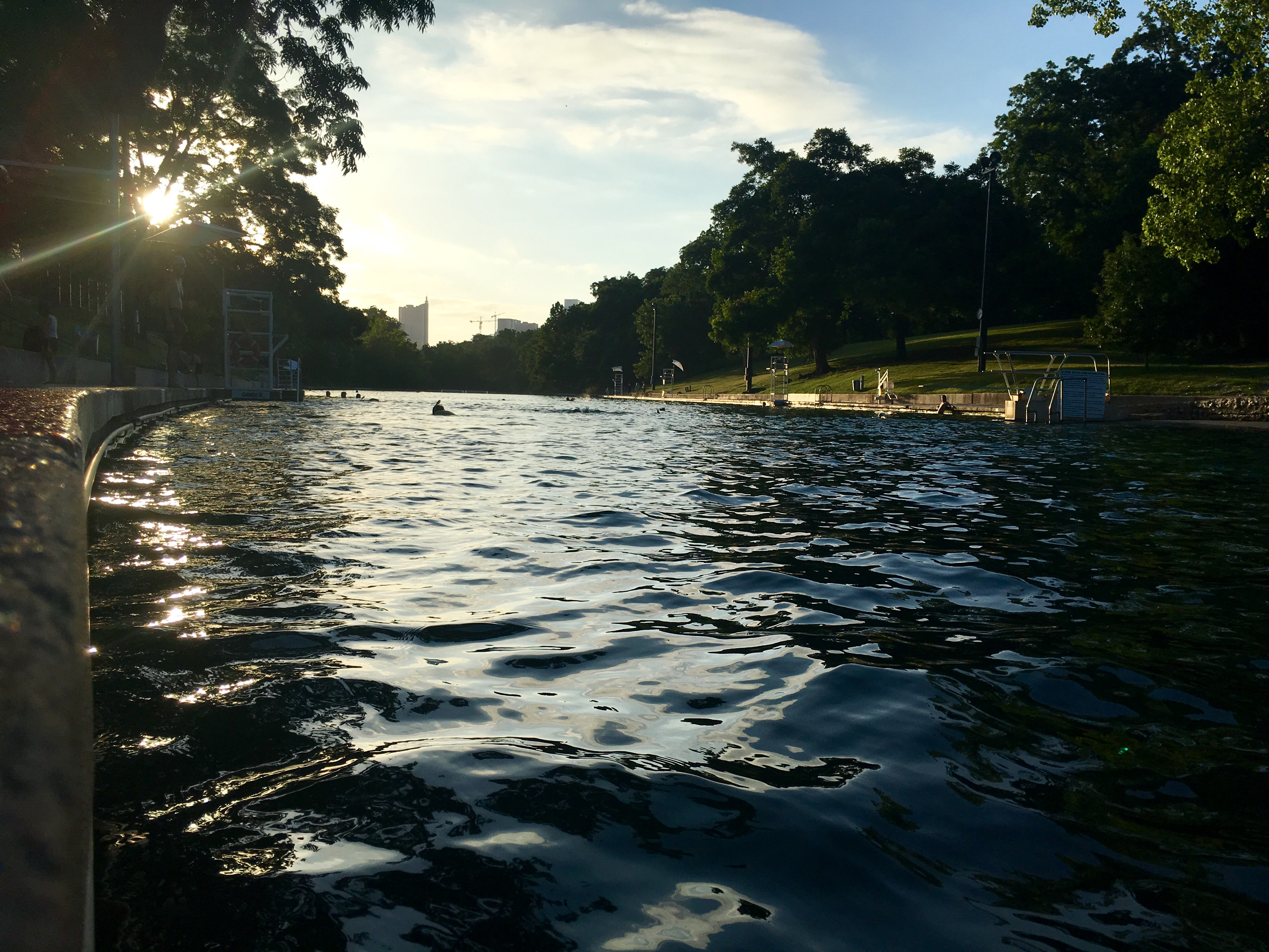 Barton Springs is a great place to cool off after your long training run.