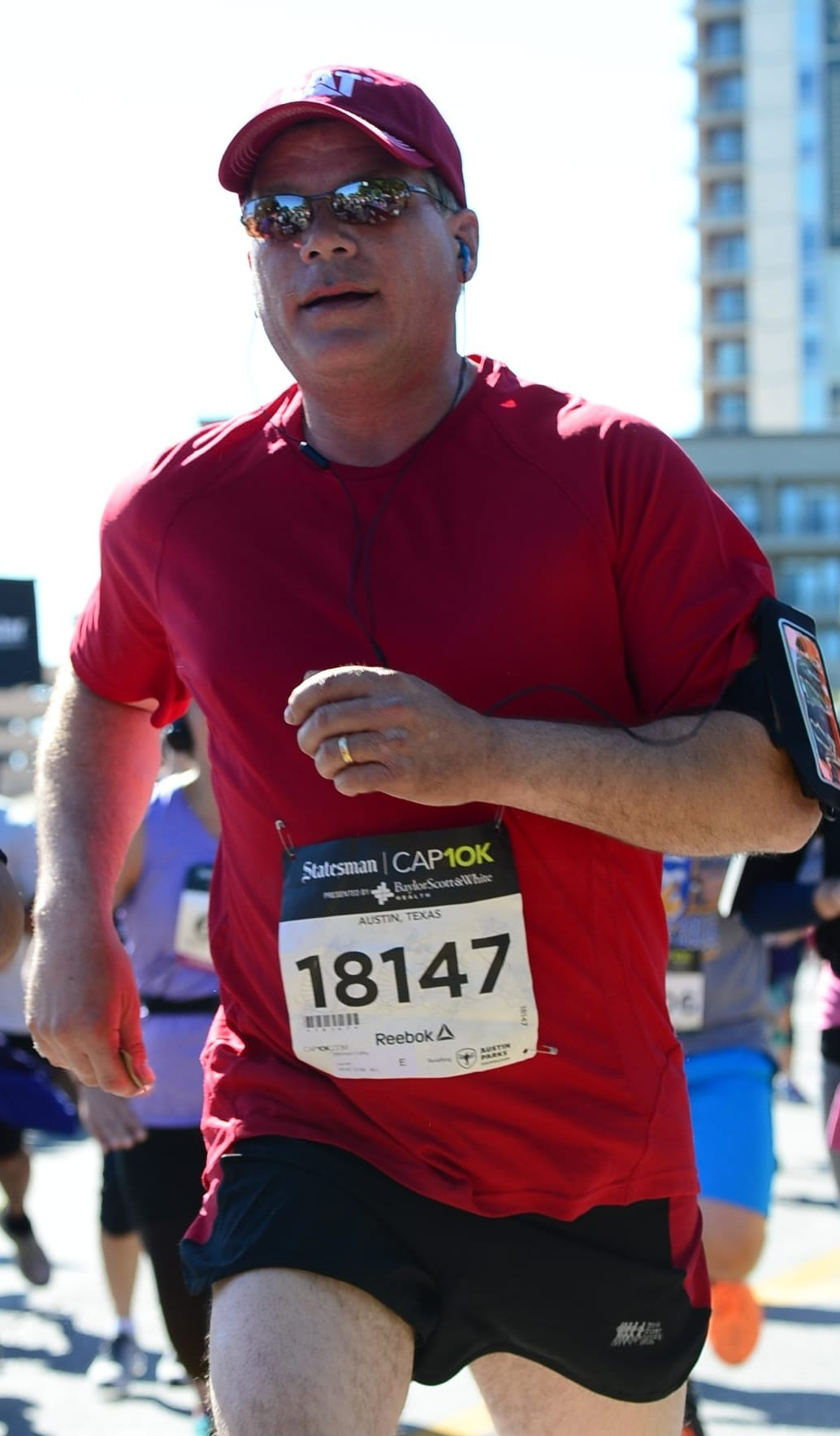Michael ran the 2017 Cap10K after he accepted his self-imposed challenge.