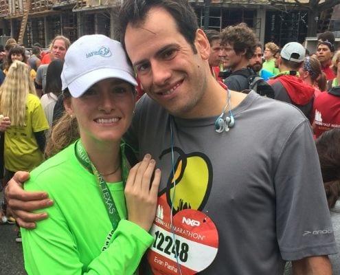 Kirsten met the love of her life on Valentine's Day at the Austin Half Marathon.
