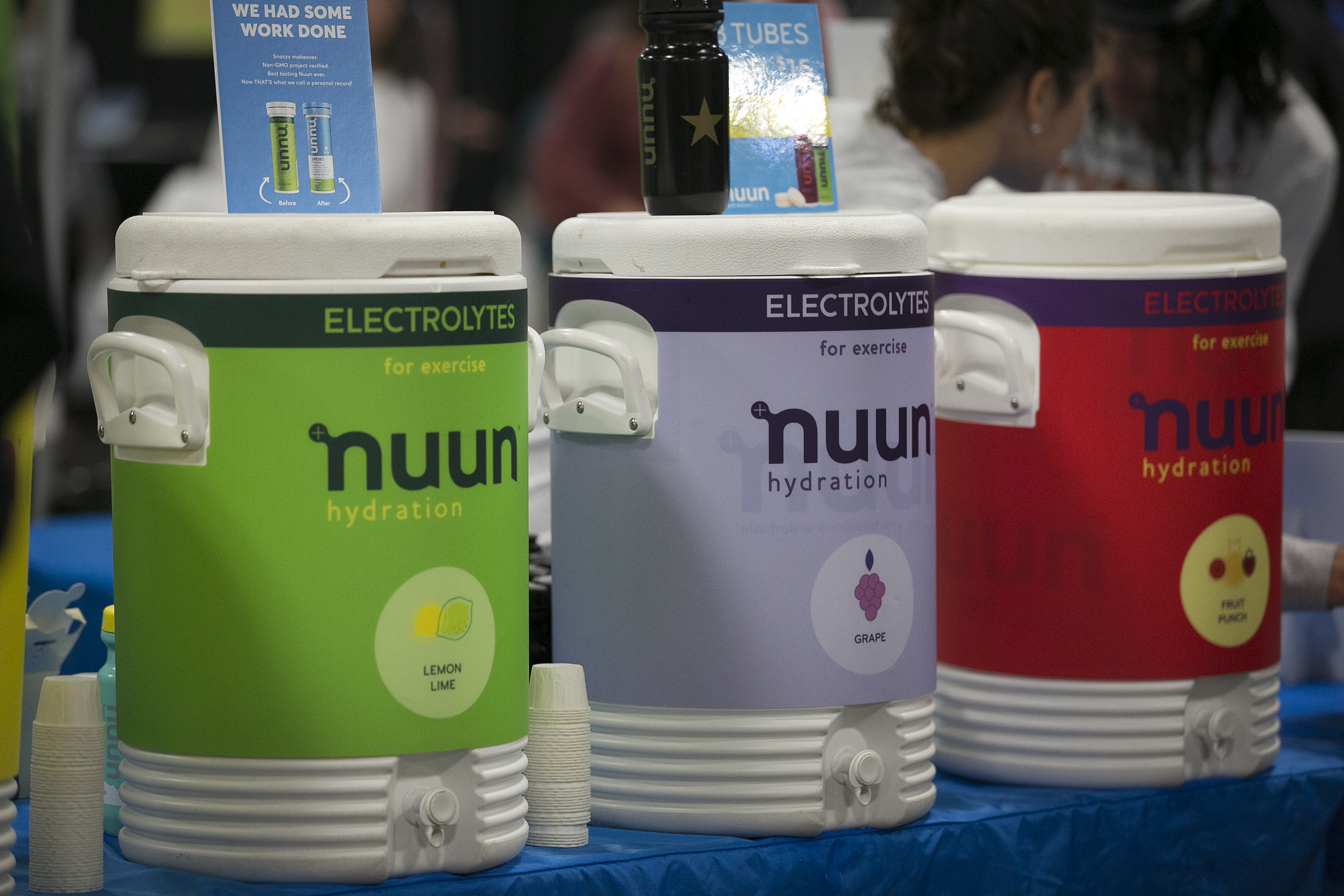 nuun display at Austin Marathon expo. nuun is the perfect drink for your long training run.