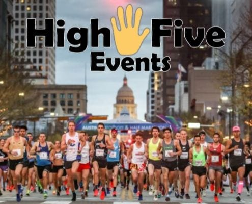 Start of the 2019 Austin Marathon, owned and produced by High Five Events. #2163 on the Inc. 5000 list.