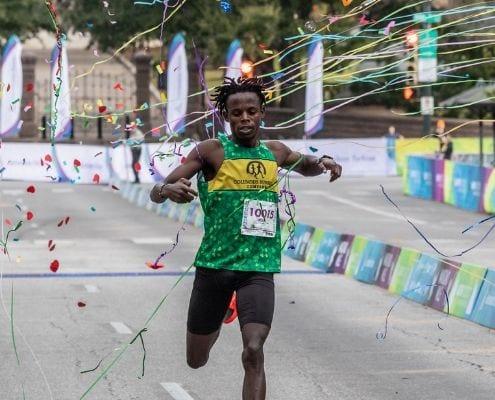 James Ngandu, 2019 Austin Half Marathon champ, was a member of the Elite Athlete Program.