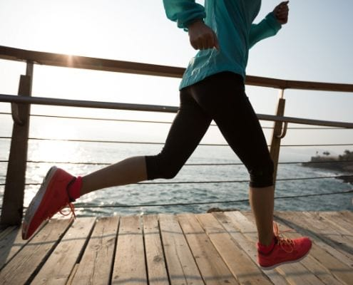 Image of runner running on boardwalk. Read Brittany Drennan's edition of My Running Story to learn how she's been given the opportunity to run again.