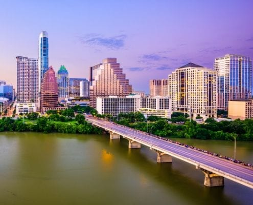 Image overlooking the Congress Avenue Bridge. This is a great place to watch the Mexican free-tail bats take off. It's part of the Austin experience!