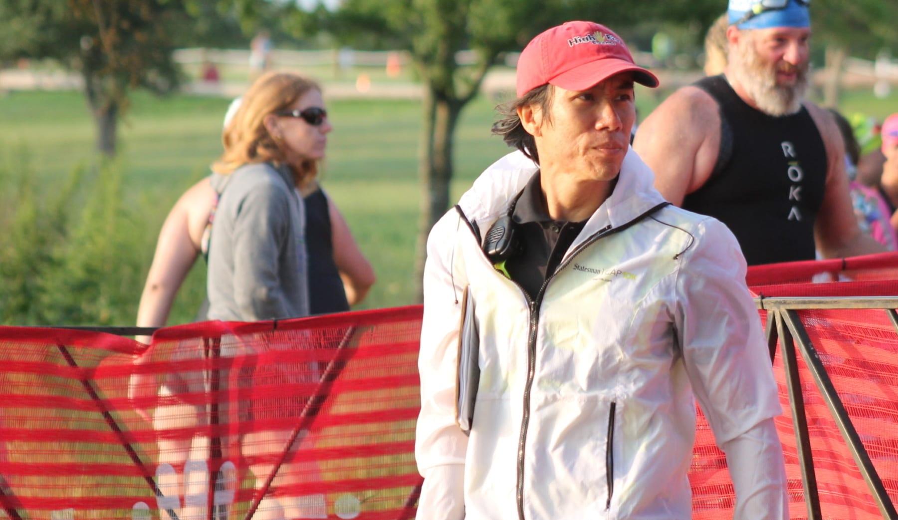 Image of John Chung at Rookie Triathlon.