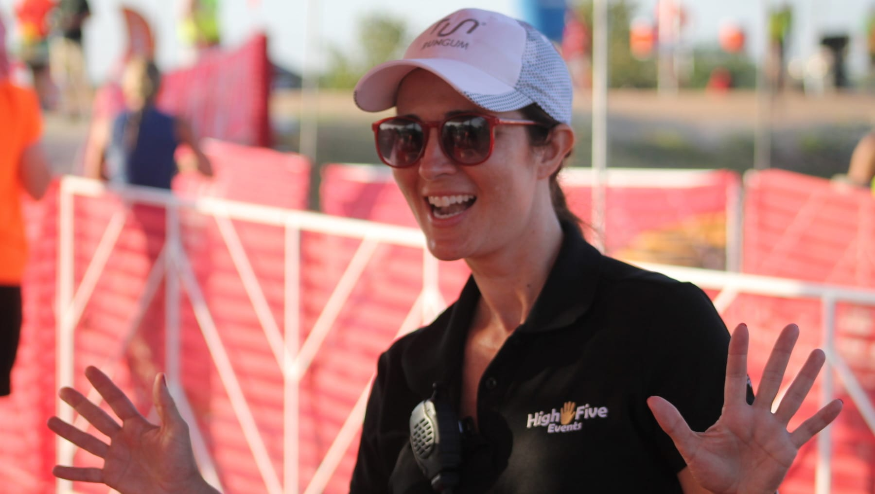 Image of Stacy Keese at a triathlon. Read this blog to meet High Five Events.