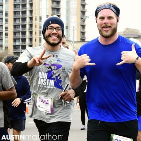 Happy Guy Friend Runners Official Photo Austin Marathon by Finisher Pix