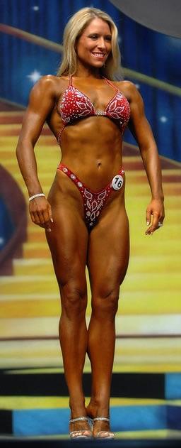 Karen bikini competition prep in Arizona