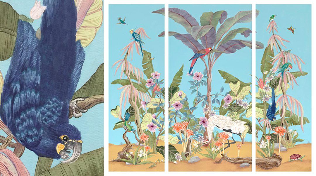 """Palm-Beach-Paradise""-process-studio-tour-Allison-Cosmos"