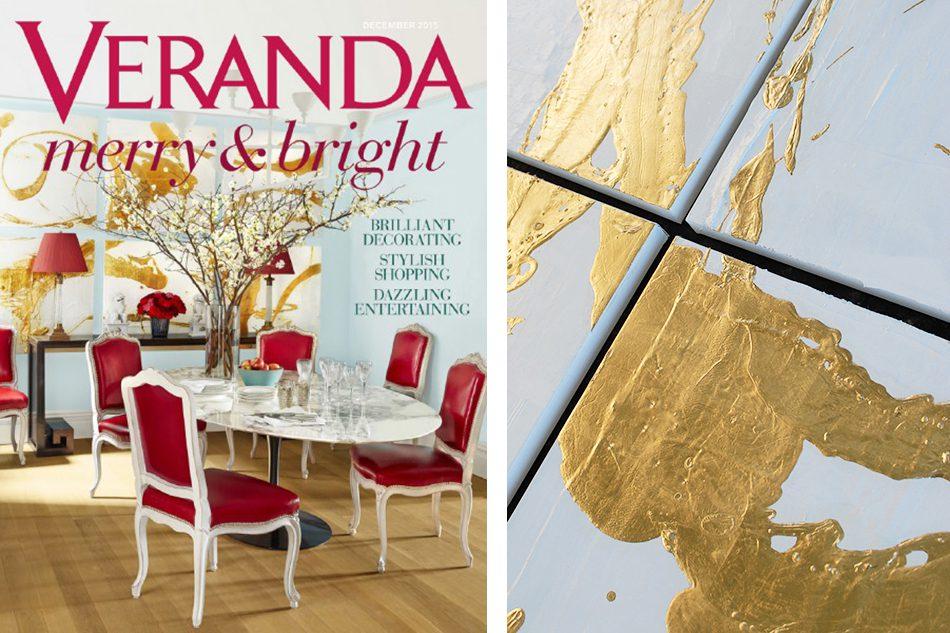 Veranda magazine cover Miles Redd paintings by Allison Cosmos