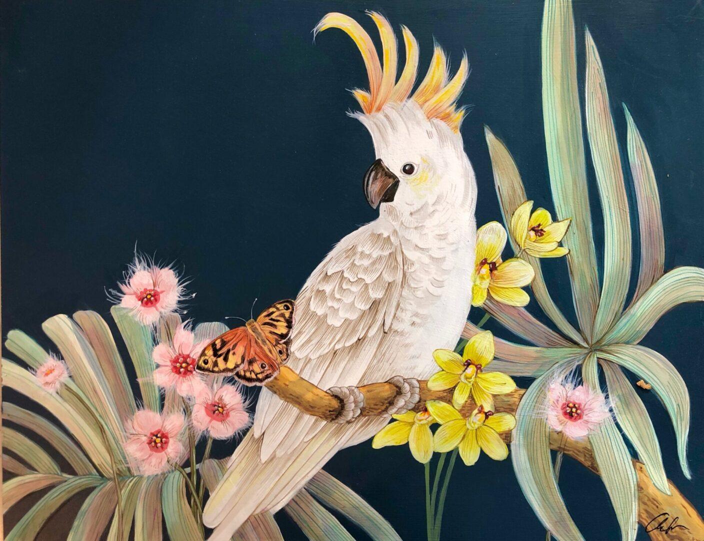 Cockatoo Party by Allison Cosmos
