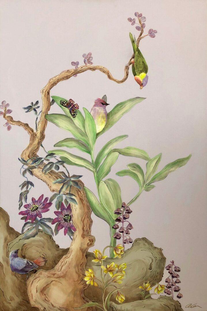 Olivia's Garden Modern Chinoiserie by Allison Cosmos