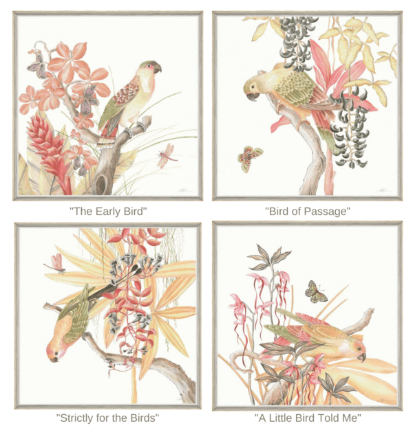 chinoiserie-parrot-bird-prints-by-Allison-Cosmos