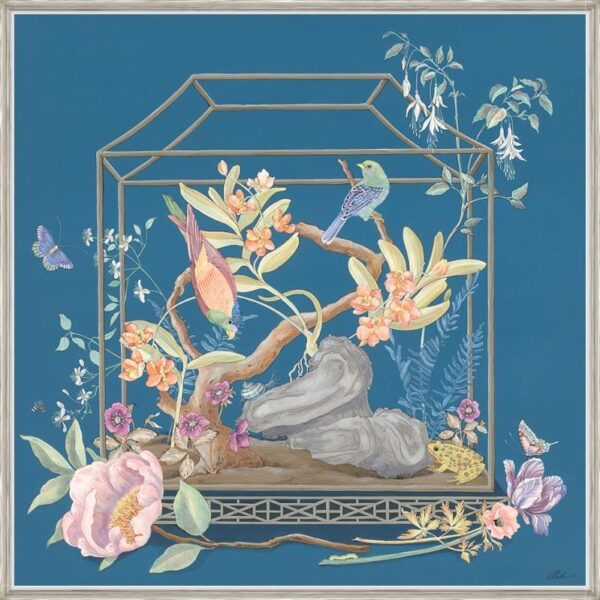 Chinoiserie-birds-blue-art-by-Allison-Cosmos