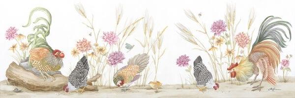 """The-Plot-Chickens""-farmhouse-chic-Grandmillenial-decor-by-Allison-Cosmos"