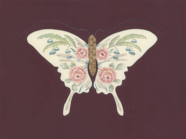 Social-Butterfly-Chinoiserie-art-prints-by-Allison-Cosmos