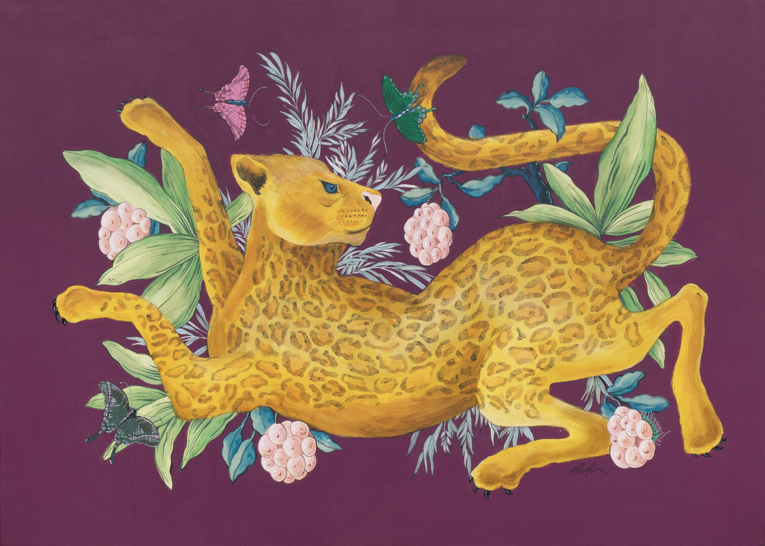 """""""Spot On"""", Leopard Painting Big Cat Art by Allison Cosmos"""