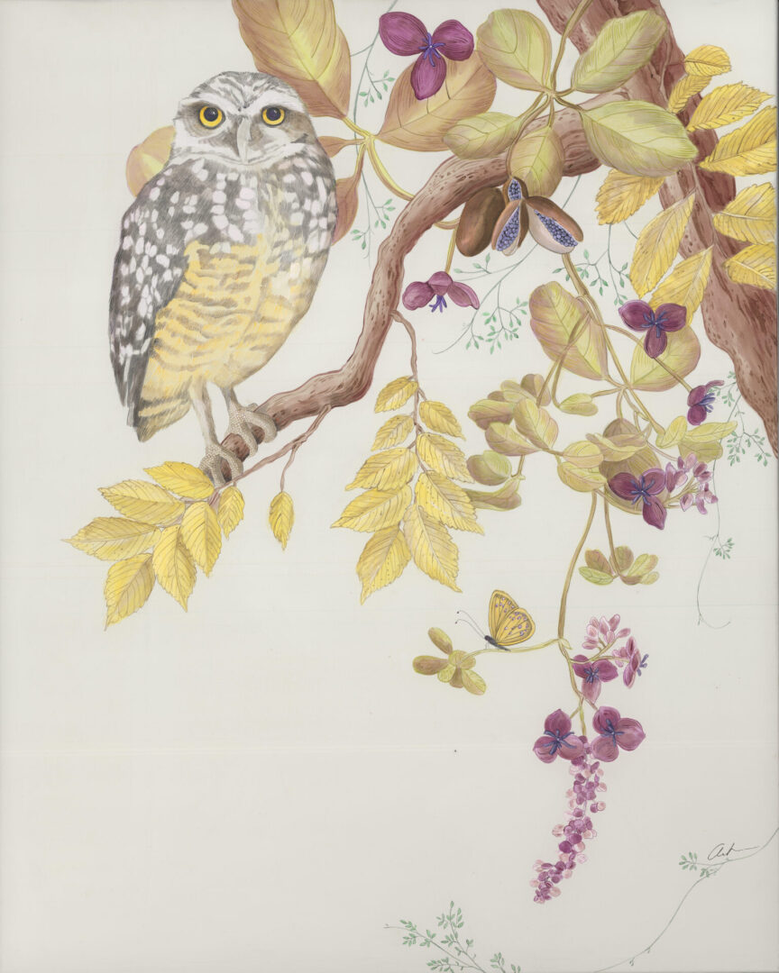"""""""Owl-You-Need-is-Love""""-Owl-painting-by-Allison-Cosmos"""