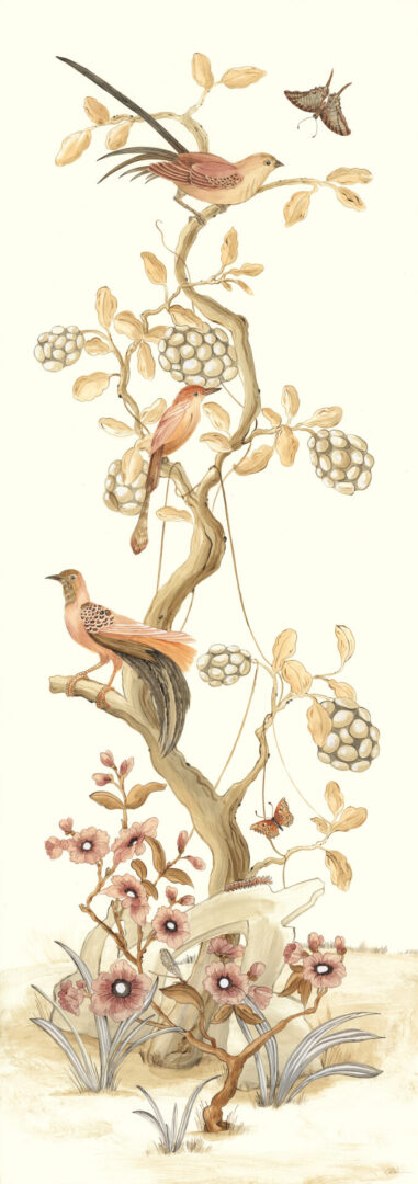 """""""Take-it-to-the-Nest-Level""""-Chinoiserie-art-bird-painting-by-Allison-Cosmos"""