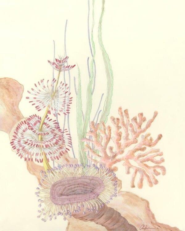Coral-Reef-triptych-coastal-art-underwater-by-allison-cosmos