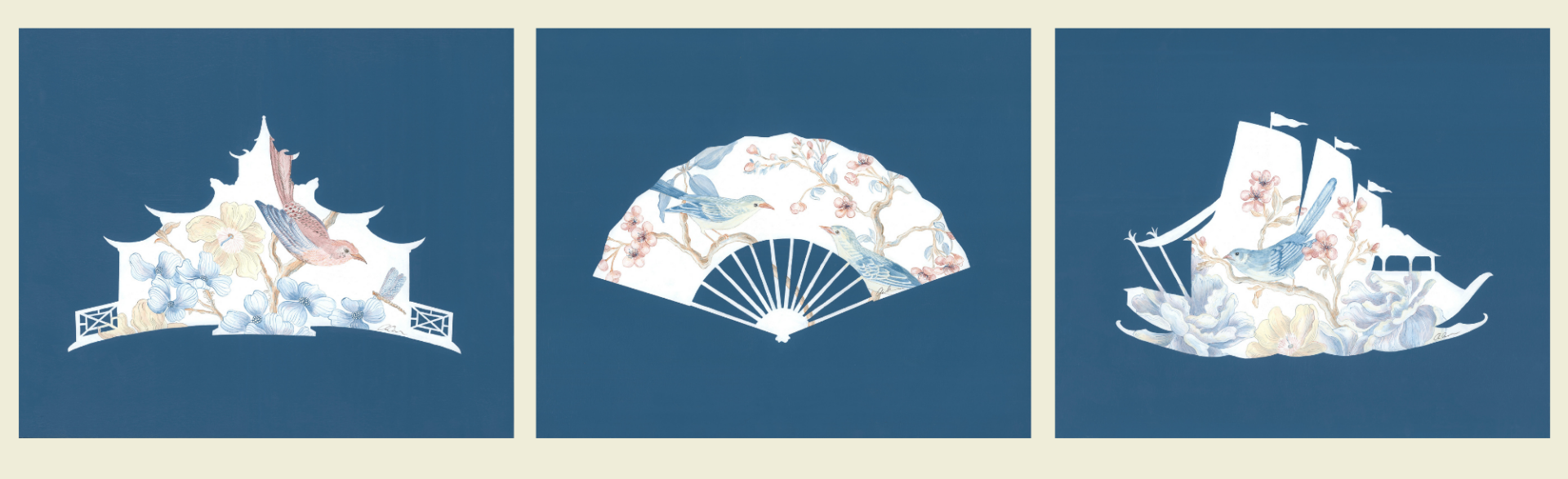 Blue-and-White-Chinoiserie-Silhouettes-by-Allison-Cosmos