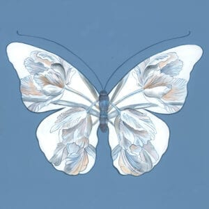 """""""Double-Dutch""""-Chinoiserie-art-butterfly-painting-by-Allison-Cosmos"""